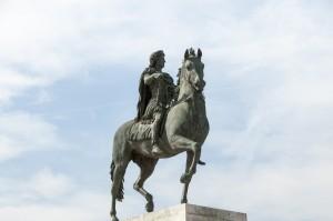 _LEP1236  - Lyon,  place Bellecour et la Statue de Louis XIV