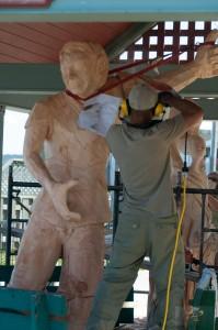 """_LEP5859 - C'était la dernière journée du """"Symposium de sculptures : LES SCULPTURALES""""!"""